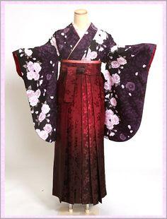 Rakuten In a purple/pink whole pattern crimson Hakama