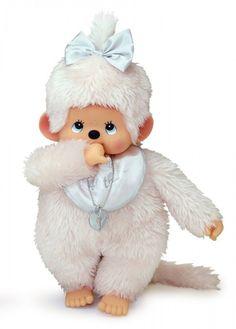 RARE Platinum Monchhichi Doll 40th Girl L Sekiguchi Japan Plush Monkey MCC   eBay