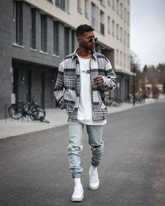 Mode Streetwear, Streetwear Fashion, Mens Urban Streetwear, Streetwear Jackets, Black Men Street Fashion, Black Men Summer Fashion, Stylish Mens Outfits, Trendy Mens Fashion, Herren Outfit