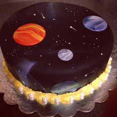Galaxy cake - but ugh all that black food coloring bleh