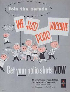 vaccine poster illustration.  Not going to lie. I love this.  My dad had Polio... it's serious business!