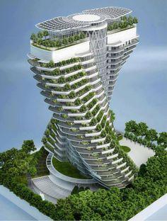 impressive agora tower in taipei, taiwan