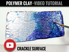 Video Tutorial - How to make «Crackle Surface» with Alcohol Inks & Golden Leafs - Step by Step Tutorial - Master Class - Fimo by SweetyBijou on Etsy
