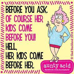 #AuntyAcid before you ask