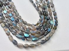 Labradorite Plain Oval Beads Blue Fire Gemstones by gemsforjewels