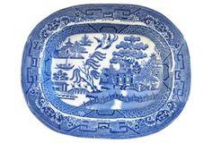 Antique  English Willow Platter $175