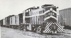 Rutland Ry. #402 is switching at Rouses Point, NY in August 1952.
