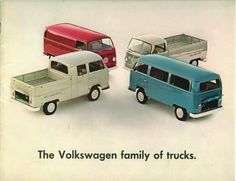 The VW family of trucks.