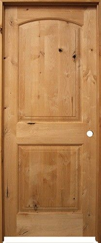 6/8 Prehung Knotty Alder Interior Doors: Unfinished Knotty Alder Door  Prehung In Matching