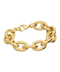 Love this Gold 'O' Link Bracelet on #zulily! #zulilyfinds