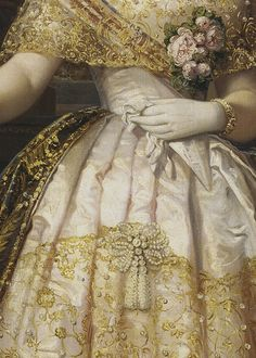 renaissance art Victoria had helped design isabellas wedding dress; she looked at her aunts replacement with some jealousy. Renaissance Kunst, Renaissance Paintings, Victorian Art, Victorian Fashion, Victorian Bedroom, Mode Rococo, Isabel Ii, Princess Aesthetic, Old Paintings