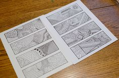 Zentangle Bookmarks- Free Printables