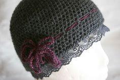 Knit Alchemy: Crochet hat Cloche beanie Lace beanie by MarryG on Etsy