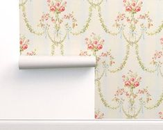 Adhesive wallpaper | Etsy Perfect Wallpaper, Self Adhesive Wallpaper, Custom Wallpaper, Peel And Stick Wallpaper, Vintage Floral, Etsy Vintage, Prepasted Wallpaper, Design 24, Marie Antoinette