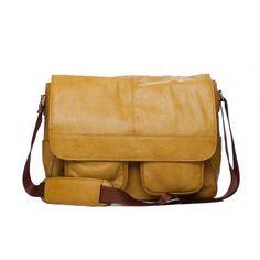 yellow camera bag