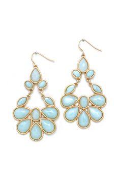 Juniper Chandelier Earrings in Blue Aspen on Emma Stine Limited