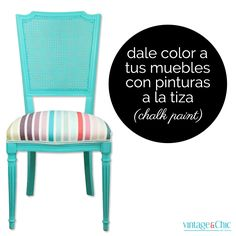 Dar color a los muebles con chalk paint o pinturas de tiza
