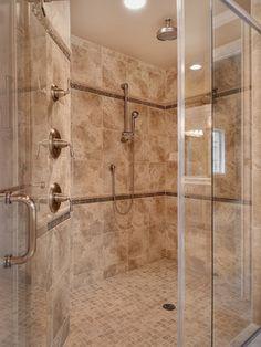 Master bath shower enclosure - traditional - bathroom - - by John F Buchan Homes Master Bath Shower, Master Bathroom, Plumbing Fixtures, Shower Plumbing, Glass Shower Doors, Shower Enclosure, Traditional Bathroom, Home Photo, Amazing Bathrooms