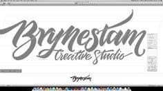 Brynestam Creative Studio – lettering for a logo