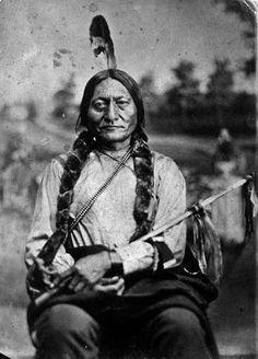 Tatanka Iyotake (aka Sitting Bull, aka Slow, aka Jumping Badger) the son of Returns Again and Her Holy Door Woman - Hunkpapa - 1881