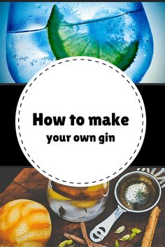 How to make your own gin No need to splash out on luxurious expensive gin. You can make your own aromatic kind with the help of this recipe. Make Your Own Gin, How To Make Gin, How To Make Drinks, Gin Recipes, Gin Cocktail Recipes, Cocktail Drinks, Cocktails, Brewing Recipes, Liquor Drinks