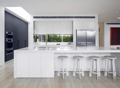 simple modern white kitchen design
