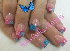 #flowers #coloredacrylic #coolnails #nailsbytammy