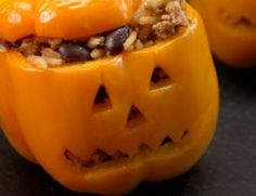 Looking for the perfect thing to eat for Halloween dinner? You've got to try these Pumpkin Patch Peppers that look like little pumpkins! Halloween Dinner, Halloween Treats, Halloween Goodies, Silicone Baking Mat, Little Pumpkin, Food Videos, Tasty Videos, Bacon, Stuffed Peppers