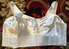 White front fastening bra in satin size 56 C by Beauty Line