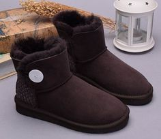 UGG Boots Mini Bailey Button Scale 1007538 Coffee