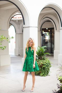 green alice and olivia dress