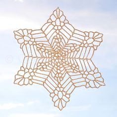 Bigger, Wetter, Heavier Snowflake with wheel center - 6 inches across