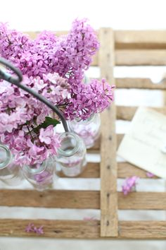 I love lilacs, I love milk bottles, that about sums it up