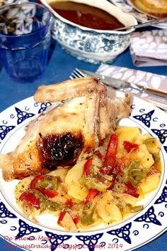 De Buena Mesa: Pollo Asado con Patatas Panaderas
