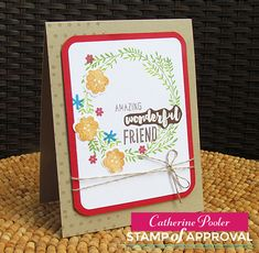 Wonderful Wreath stamp set goes great with the other products in our Lovely Notes Stamp of Approval Collection! www.cpstampofapproval.com http://catherinepooler.com/2016/07/09/lovely-notes-stamp-of-approval-preview-day-3/