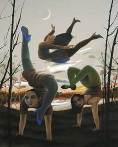 "Saatchi Art Artist Rolf Jansson; Painting, ""Acrobates"" #art"