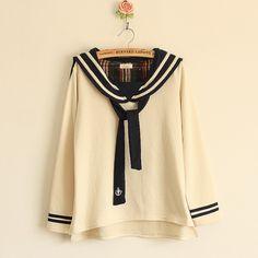 Eski Çapa Simgeli Denizci Modası Sweatshirt