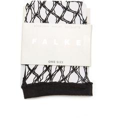 Falke Hypnotic Net Sock ($49) ❤ liked on Polyvore featuring intimates, hosiery, socks, black, ankle high hosiery, falke hosiery, ankle length socks, falke and ankle high socks