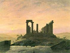 Caspar David Friedrich, Tempio di Giunone ad Agrigento - Junotempel in Agrigent, 1828-1830 ca., Olio su tela, 54 × 72 cm, Dortmund, Museum am Ostwall