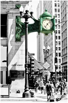 Marshall Field & Co. Clock on State St. We still covet our old Marshall Field's!