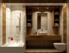 bamboo wood pattern bathroom