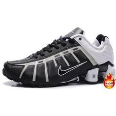 e77470e33c6f www.asneakers4u.com Mens Nike Shox NZ 3 OLeven Black White Cheap Nike