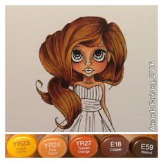 Colored by Amanda Farhang. This is a digital stamp from Saturated Canary, colored with copic sketch markers.
