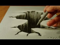 Trick Art on Paper, Drawing 3D Hole, Time Lapse - YouTube h see anamorphic  Art Ed Central