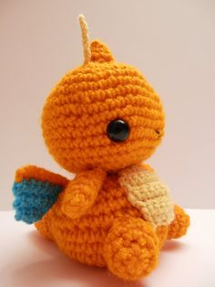 Crochet Dragonite Inspired Chibi Pokemon от MissJennysCrochet, $20.00