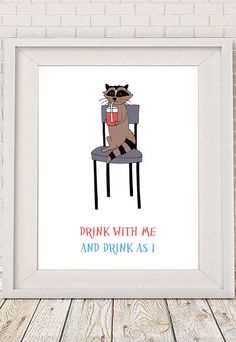 Drink with me and drink as I Poster printable art by NotMuchToSay