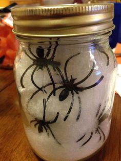 Halloween mason jar decor by OhSoLovelyJars on Etsy, $7.00...I am so asking this!