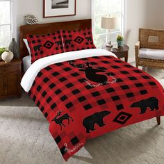 "Our ""Buffalo Check Duvet Cover"" will create that classic cabin feel you're looking for. All of our products are digitally printed to create crisp, vibrant colors and images. Made to order in the USA,"