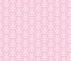 #9-damask light pink and white fabric by misstiina on Spoonflower - custom fabric