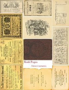 Free Collage Sheets by Art and imagesbykim: Free Book Pages Cover Advertiesments Collage Sheet